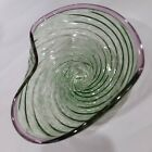 Off Center Glass Studio Hand Blown Glass Bowl Signed  Dated