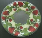 Peggy Karr Glass Strawberries 14 Plate 2004 NEW in Box Fused Glass in USA