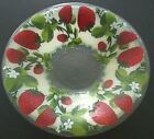 Peggy Karr Glass Strawberries 14 Bowl 2002 NEW in Box Fused Glass in USA
