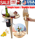 Outdoor Wine Holder Table Portable Picnic Table Wine Glass Rack Picnic Beach