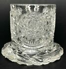ANTIQUE EAPG Pattern Glass Toothpick Matchstick Holder Star Leaf Wishbone THICK