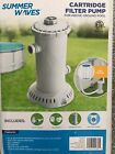 NEW IN HAND SUMMER WAVES 1000 GPH POOL CARTRIDGE FILTER PUMP UNIVERSAL 1000