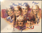 THE BRADY BUNCH SIGNED PHOTO PSA DNA BARRY WILLIAMS MAUREEN MCCORMICK EVE PLUMB