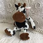 2003 MINT MWMT TY Beanie Babies Spotted Cow Bull TIPSY ~ Swing Tag Locket