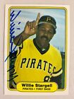 1982 Fleer Willie Stargell Signed Autograph Card Pittsburgh Pirates HOF POPS