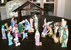 Vtg LENOX Renaissance Nativity 22 Pc Porcelain + Creche Set 1991 w Orig Boxes