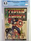 CAPTAIN AMERICA #100 (CGC 8.5) 1968 1st ISSUE! BLACK PANTHER APPEARANCE! SILVER
