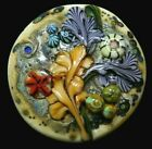 Vintage Collectible BUTTON Large SEA LIFE Glass Lampwork STUNNING