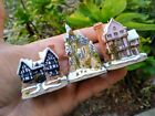 David Winter Cottages Christmas Ornaments Tudor Manor, Fairytale Castle, Suffolk