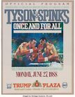 Mike Tyson vs. Michael Spinks On-Site Boxing Program 1988 - Trump Plaza