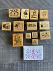 PSX Personal Stamp Exchange Lot Teddy Bears Theme Rubber Stamp