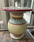 Mackenzie Childs Vintage Pottery Side Table Base Pedestal No Glass Local Pickup