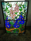 Stained Glass Flowers leaves 3 Panel Folding Fireplace Screen 315H X 405L