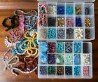 Huge Gemstone Pearl Loose Beads Jewelry Making Crafts Lot With 2 Organizers Lot2