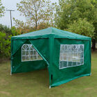 Summer Outdoor 3x3m Gazebo Event Party Tent Garden with 4pc Fully Sides Shelter