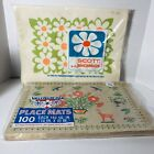 Vtg Placemats Paper Daisies Valcout Pak Opened Package Scott MCM Kitchen Prop
