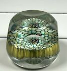 MURANO Classic Thousand Flowers Faceted PAPERWEIGHT Small