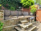 metal panels/ fence / wall top fence panels and gates 592 cm x 77 cm