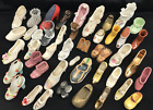 Lot of 42 Miniature Shoe Figurines Large Collection Various Styles  Patterns