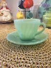 Fire King Jadeite Shell Cup and Saucer