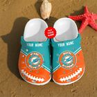 Personalized Miami Dolphins Crocs Clog