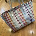 Kate Spade New York Woven Beach Tote Extra Large Size Multi Color