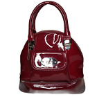 Vtg Tupperware Consultant Oxblood Lunch Tote Patent Leather