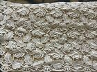 7 1 2 YDS SCALLOPED IVORY BRIDAL FLORAL RAYON VENISE LACE EDGE