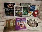 7 VTG STAINED GLASS PATTERN BOOKS LAMPS CABINET DOORS WINDOWS TRANSOMS CHILTON