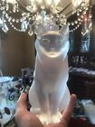Lalique frosted Chat Assis seated cat crystal figure REDUCED