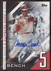 2020 Topps Update Johnny Bench A Numbers Game Reds Auto Autograph 10