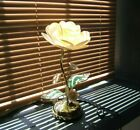 Lotus Flower Touch Lamp Glass Metal Flower Table Top Touch 3 Way Lamp