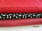 Fabric Cotton Timeless Treasures Dog THEME LOT OF 3 CUTS 4 3 4 YDS BONES PAWS