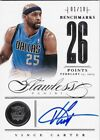 VINCE CARTER 2012-13 PANINI FLAWLESS BENCHMARKS 26 POINTS ON CARD AUTO SP # 1 10
