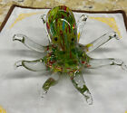 Vintage Sea Octopus Hand Blown Blowing Glass Art Animal Fancy Collectibles Multi