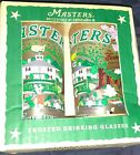 MASTERS GOLF AUGUSTA NATIONAL OFFICIAL CATSTUDIO FROSTED GLASS CUP TUMBLERS
