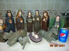 11 pcLarge Vintage Handmade Wooden Nativity Set 11 Tall Figures Hand Carved