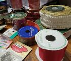 Lot of Vintage Decorative ribbons paper twists bells sticky back coinspins
