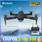 Long Range Spy Drone Helicopter with 4K Professional HD Camera  w GPS Landing