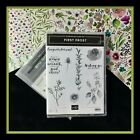 Stampin Up FIRST FROST Stamps  FROSTED BOUQUET Dies  FROSTED FOLIAGE DSP 2