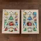 Vintage Holly Glass Christmas Ornaments Bulbs Assorted Boxes Made in USA