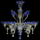 Chandelier Murano Glass 6xE14 Original With Anelli For Furnace Bargain