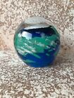 Dynasty Gallery World Earth Glass Paperweight Glow in the Dark