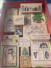 Lot of 16 Christmas Rubber Stamps