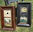Two Antique Ogee Clock Cases for Parts or Repair