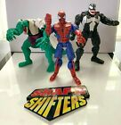 Toy Biz Shape Shifters Spider Man Venom The Lizard action figures used