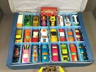 Vintage 1971 Matchbox Carry Case With All 4 Trays and 25 Cars Lot