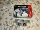 Nintendo 64 n64 console boxed with 5 games