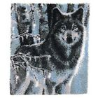 Latch Hook Rug Kit Forest Wolf 110 x 90cm
