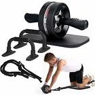 Ab Roller Wheel 6 in 1 Kit with Knee Pad Resistance Bands Exercise Equipment